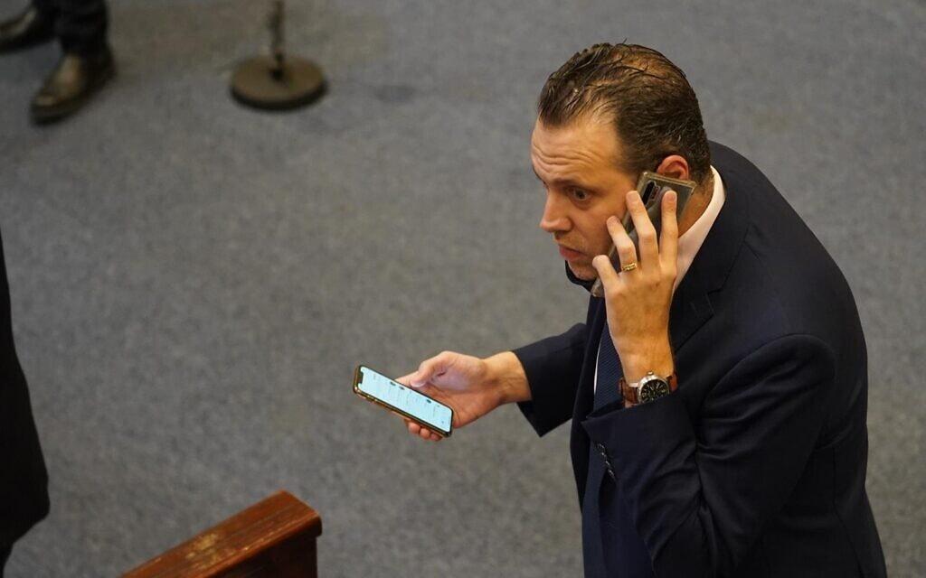 מיקי זוהר במליאת הכנסת בדיון על הקמת ועדת חקירה פרלמנטרית לפרשת הצוללות, 21 באוקטובר 2020 (צילום: שמוליק גרוסמן/דוברות הכנסת)