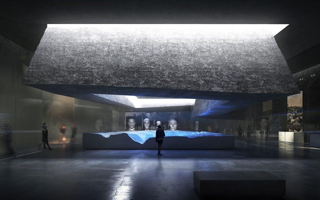 תכניות למרכז להנצחת השואה בבאבי יאר בקייב (צילום: באדיבות המרכז)