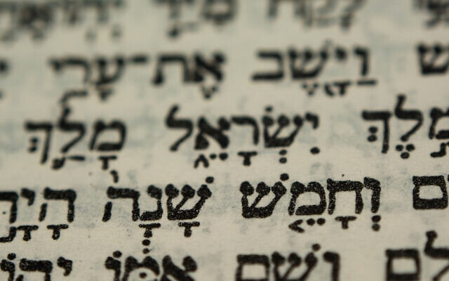 Hebrew text in bible (צילום: Yo_co / iStock)