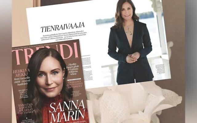 צילום מסך מתוך כתבה של cnn על הבחירה האופנתית של ראשת ממשלת פינלנד, סאנה מרין