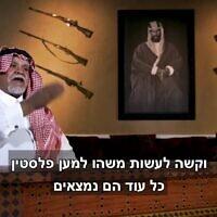 צילום מסך מראיון עם בנדר בן סולטן