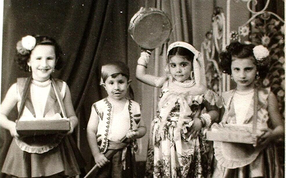 ילדים יהודים מחופשים לקראת חג הפורים בסודאן, 1950 (צילום: באדיבות Tales of Jewish Khartoum)