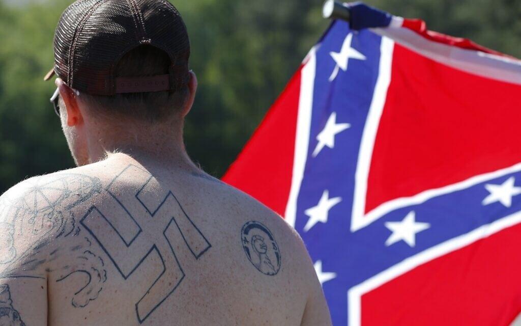 אילוסטרציה, עצרת גזענית בג'ורג'יה, אפריל 2016 (צילום: AP Photo/John Bazemore)