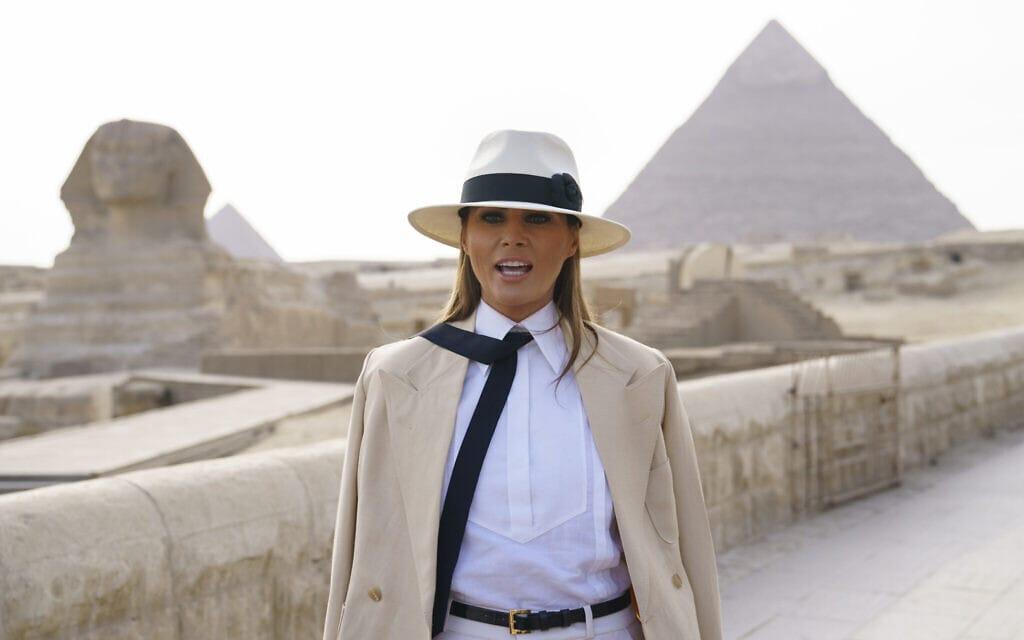 הגברת הראשונה מלניה טראמפ מבקרת במצרים, 2018 (צילום: AP Photo/Carolyn Kaster)