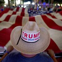"""ליל הבחירות לנשיאות ארה""""ב 2020 (צילום: AP Photo/Matt York)"""