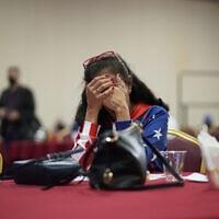 """ליל הבחירות לנשיאות ארה""""ב 2020 (צילום: AP Photo/John Locher)"""