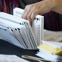 ספירת פתקי הצבעה בבחירות 2020 בבירת ג'ורג'יה, אטלנטה, 5 בנובמבר 2020 (צילום: Brynn Anderson, AP)