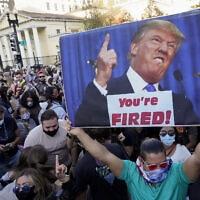 אמריקאים עם היוודע תוצאות הבחירות (צילום: AP Photo/Jacquelyn Martin)