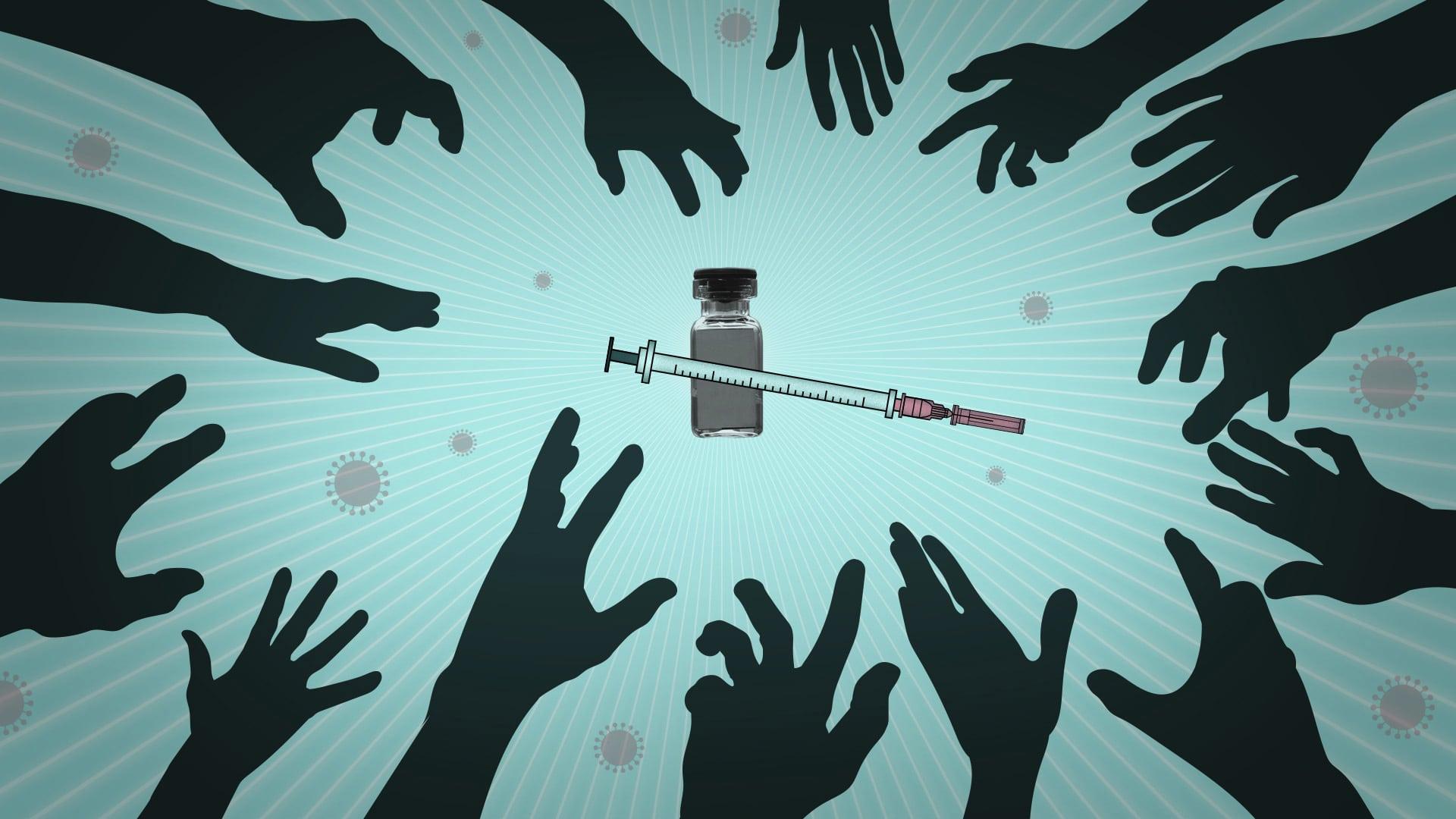 אילוסטרציה. מרוץ לקבלת חיסון נגד קורונה (צילום: AP Illustration/Peter Hamlin)