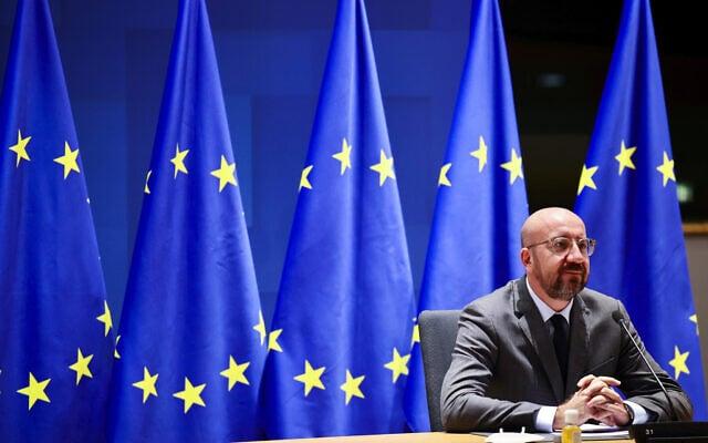 נשיא המועצה האירופית, צ'רלס מישל. נובמבר 2020 (צילום: AP Photo/Olivier Matthys, Pool)