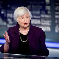 יושבת הראש לשעבר של הבנק הפדרלי, ג'נט ילן, בוושינגטון, 14 באוגוסט 2019 (צילום: AP Photo/Andrew Harnik, File)