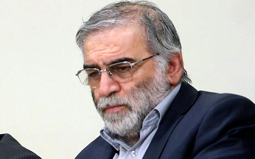 אבי תוכנית הגרעין האיראני, מוחסן פאחריזאדה (צילום: Office of the Iranian Supreme Leader via AP)
