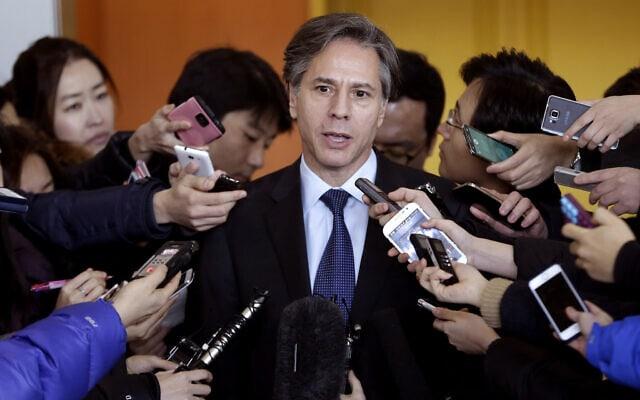 טוני בלינקן (צילום: AP Photo/Ahn Young-oon)