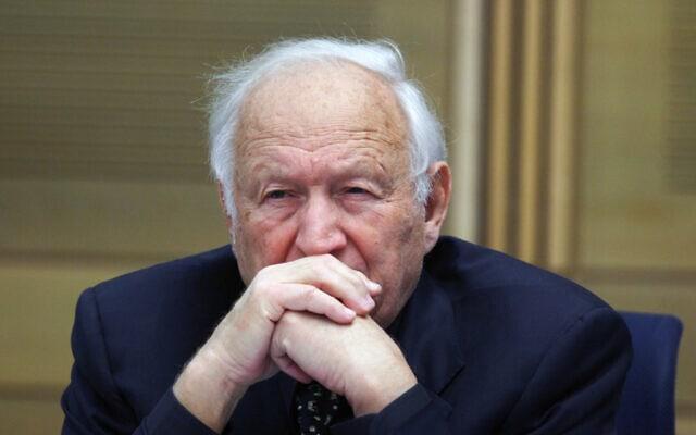 מישאל חשין, שופט בית המשפט העליון לשעבר (צילום: Kobi Gideon / FLASH90)