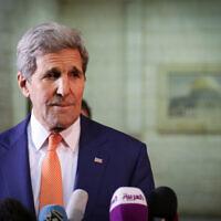ג'ון קרי בעת כהונתו כשר החוץ של ארצות הברית, 24 בנובמבר 2015 (צילום: פלאש 90)
