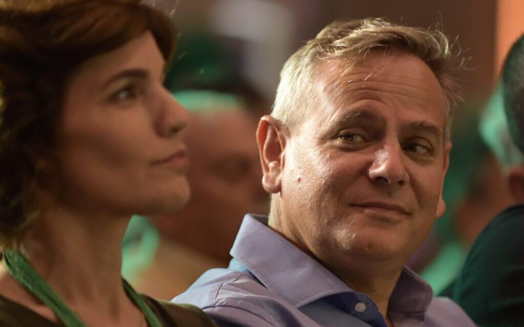ניצן הורוביץ ותמר זנדברג משתתפים בישיבת הוועד המרכזי של מרצ בתל אביב. יולי 2019 (צילום: Gili Yaari / Flash90)