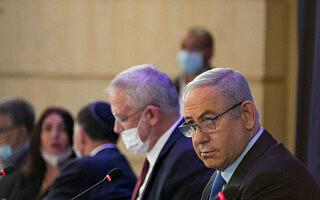 בנימין נתניהו בישיבת ממשלה ב-28 ביוני 2020 (צילום: אוליבייה פיטוסי/פלאש90)