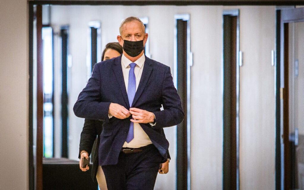 יושב ראש כחול לבן בני גנץ בכנסת, 10 בנובמבר 2020 (צילום: Oren Ben Hakoon/POOL - פלאש 90)