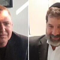 הרב הרשל גרוסמן ודן פרי (צילום: דן פרי)