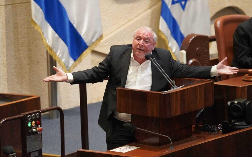 דוד אמסלם: שר הדיגיטל הראשון והאחרון של ישראל (צילום: דוברות הכנסת – דני שם טוב)