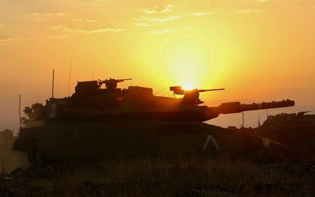"""כוח מחטיבת השריון 7 באימון. (צילום: צילום: דובר צה""""ל.)"""