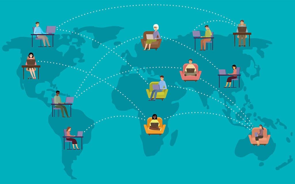 עבודה מהבית מסביב לעולם. אילוסטרציה (צילום: iStock)