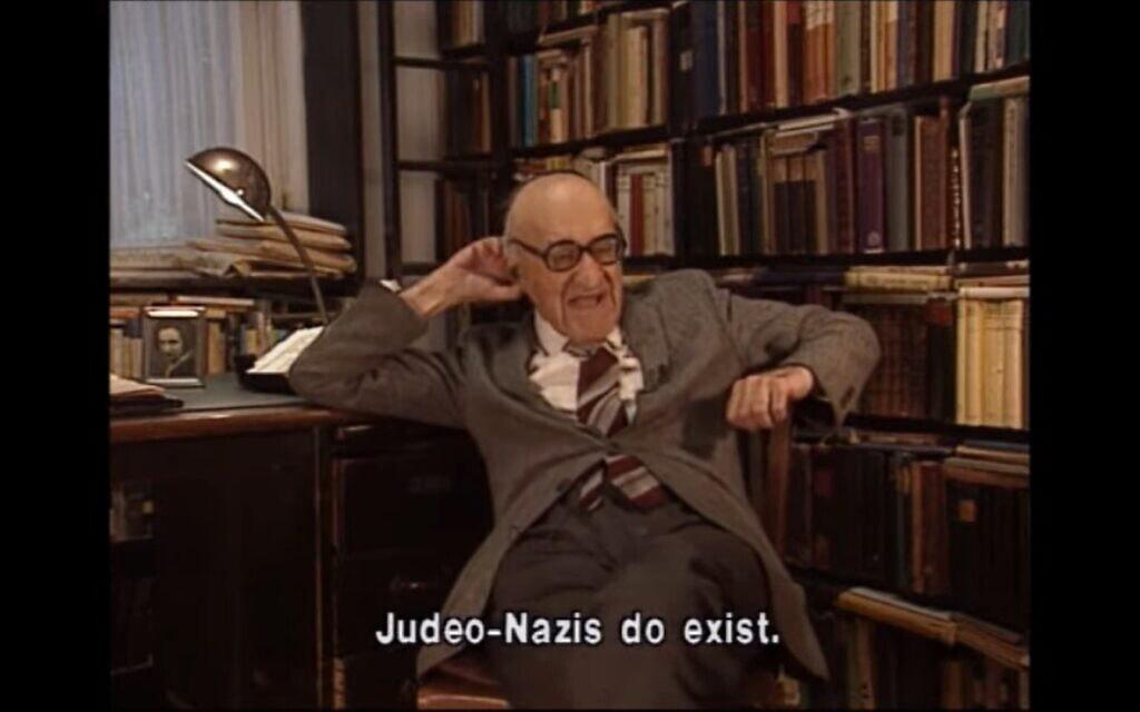 ראיון עם פרופ' ישעיהו ליבוביץ', צילום מסך