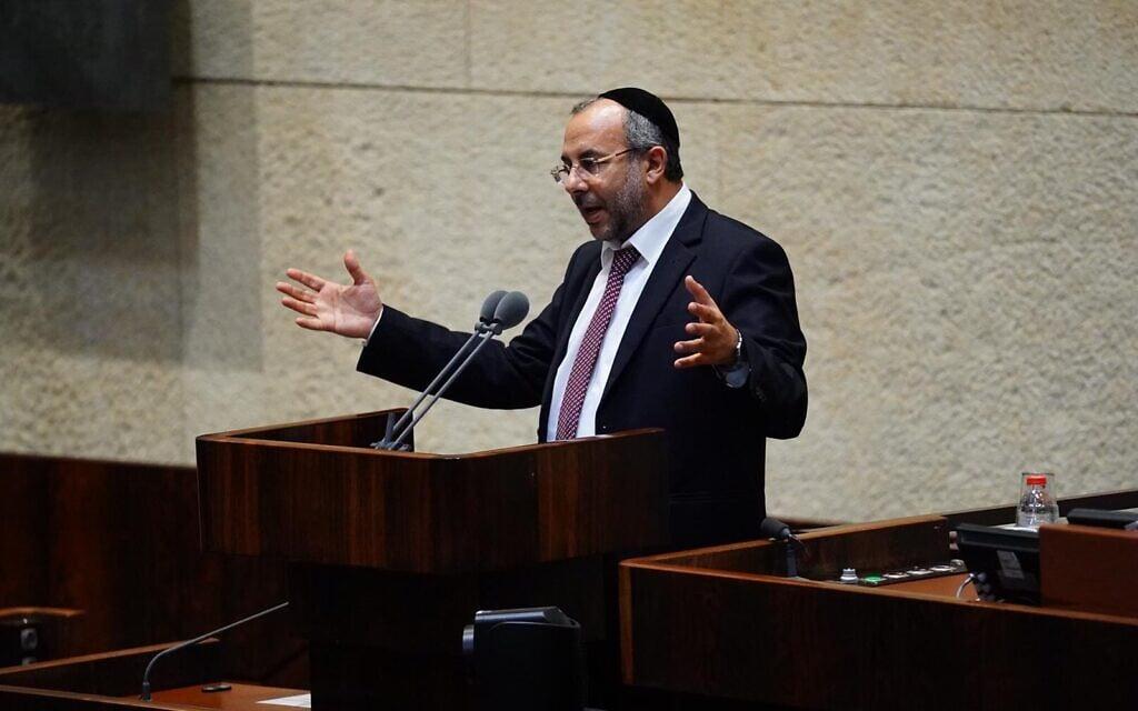יעקב אביטן בכנסת (צילום: עדינה ולדמן/דוברות הכנסת)