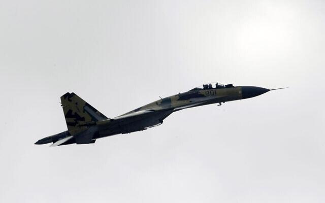 מטוס סוחוי Su-35 (צילום: Ivan Sekretarev, AP)