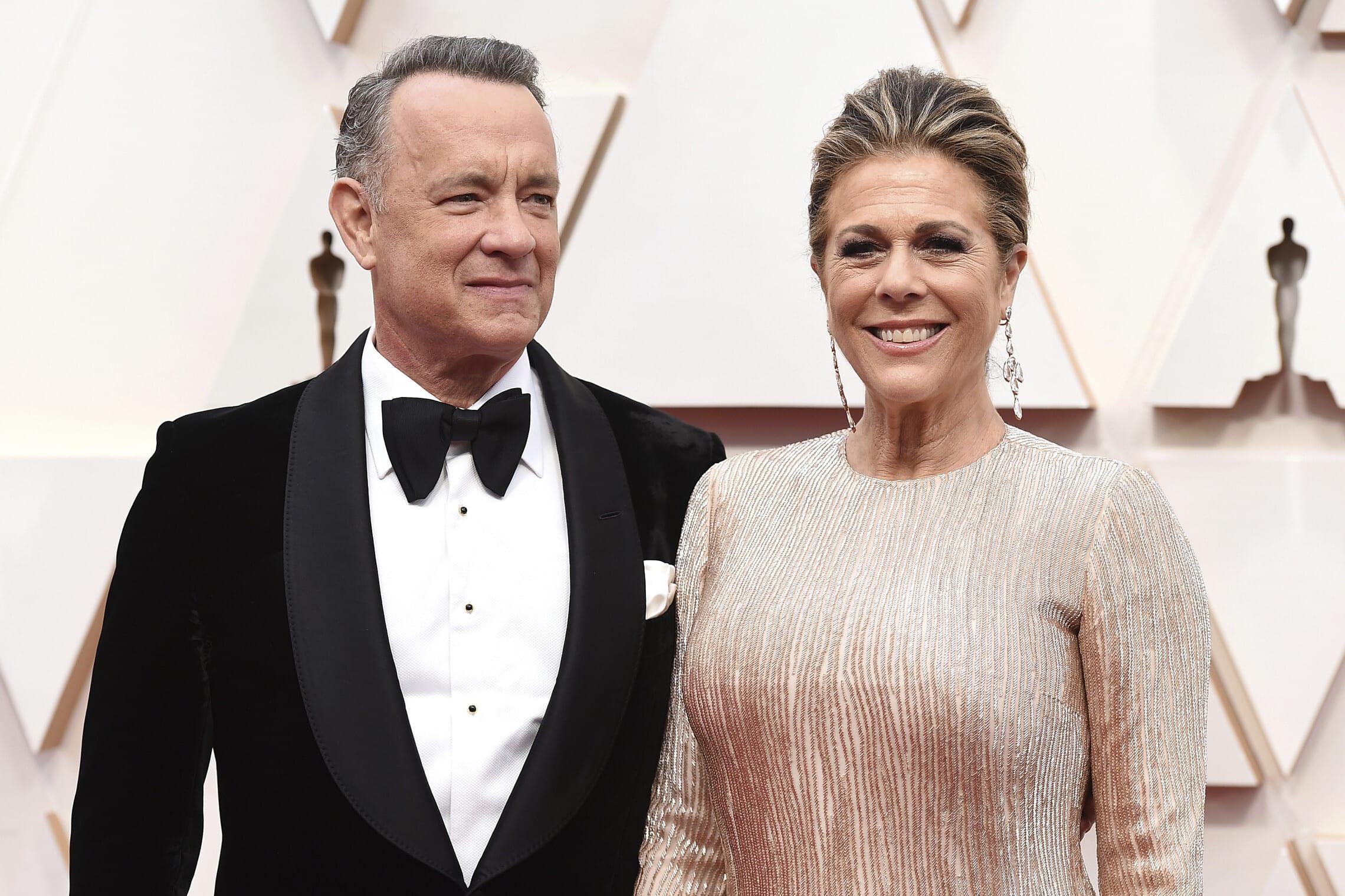 טום הנקס ואשתו, השחקנית ריטה וילסון (צילום: Jordan Strauss/Invision/AP)