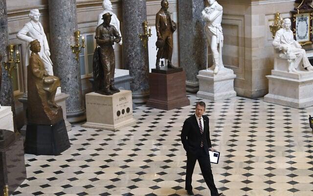 אולם הפסלים בגבעת הקפיטול (צילום: AP Photo/Susan Walsh)