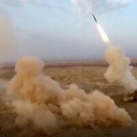 שיגור טיל בליסטי איראני תת קרקעי במהלך תרגיל, יולי 2020 (צילום: Sepahnews via AP)