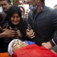 הלווייתו של הנער אלי אבו עליה ברמאללה, 5 בדצמבר 2020 (צילום: AP Photo/Majdi Mohammed)