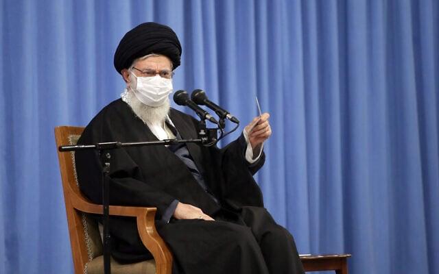 עלי חמינאי, המנהיג העליון של איראן. דצמבר 2020 (צילום: Office of the Iranian Supreme Leader via AP)