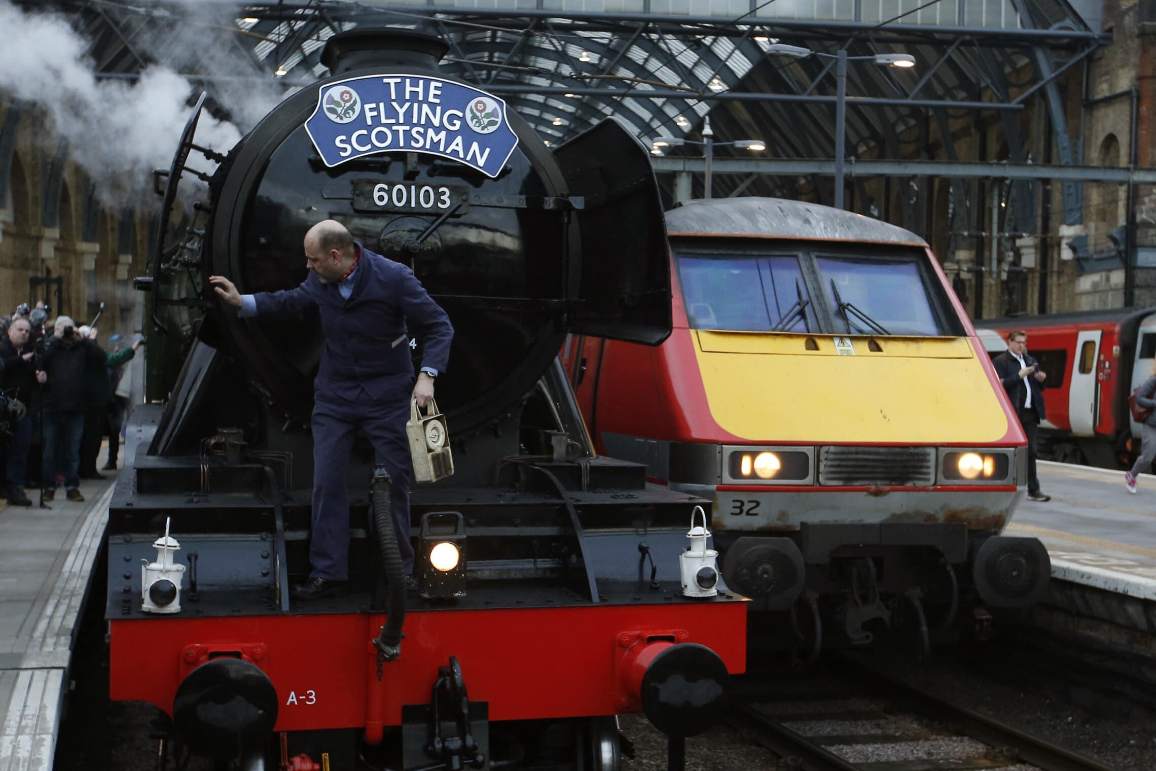 הסקוטי המעופף בתחנת קינגס קרוס בלונדון, 25 בפברואר 2016