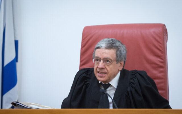 שופט בית המשפט העליון מני מזוז (צילום: מרים אלסטר/פלאש90)