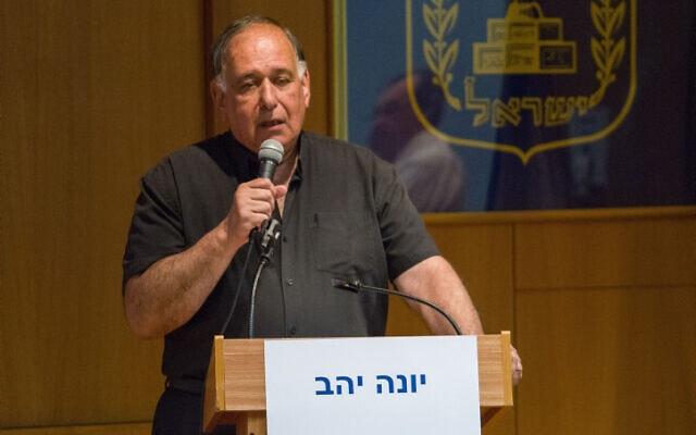 יונה יהב בעת כהונתו כראש עיריית חיפה, 23 באוקטובר 2018 (צילום: מאיר ועקנין, פלאש 90)