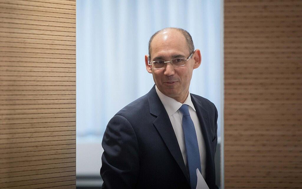 נגיד בנק ישראל אמיר ירון (צילום: Noam Revkin Fenton/Flash90)