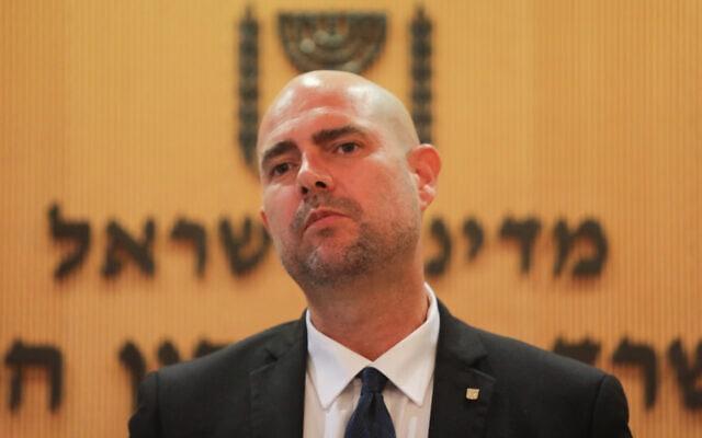 אמיר אוחנה, השר לביטחון פנים. יולי 2020 (צילום: FLASH90)