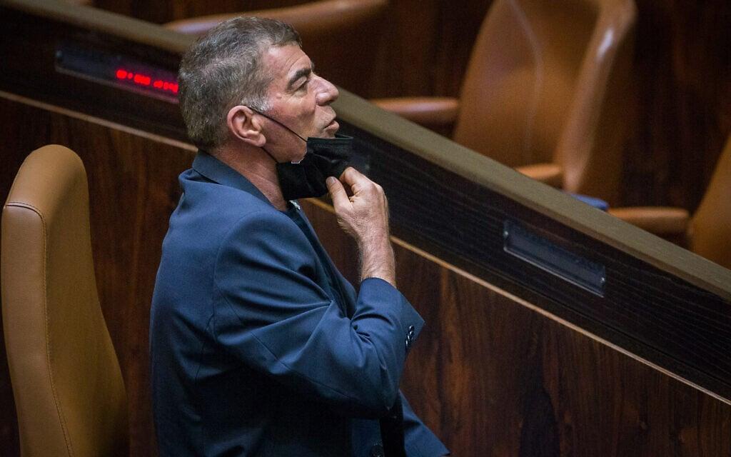 גבי אשכנזי בכנסת (צילום: Oren Ben Hakoon/POOL)