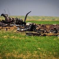 זירת ההתרסקות של מטוס חיל האוויר בדרום הארץ, 24 בנובמבר 2020 (צילום: דודו גרינשפן, פלאש 90)