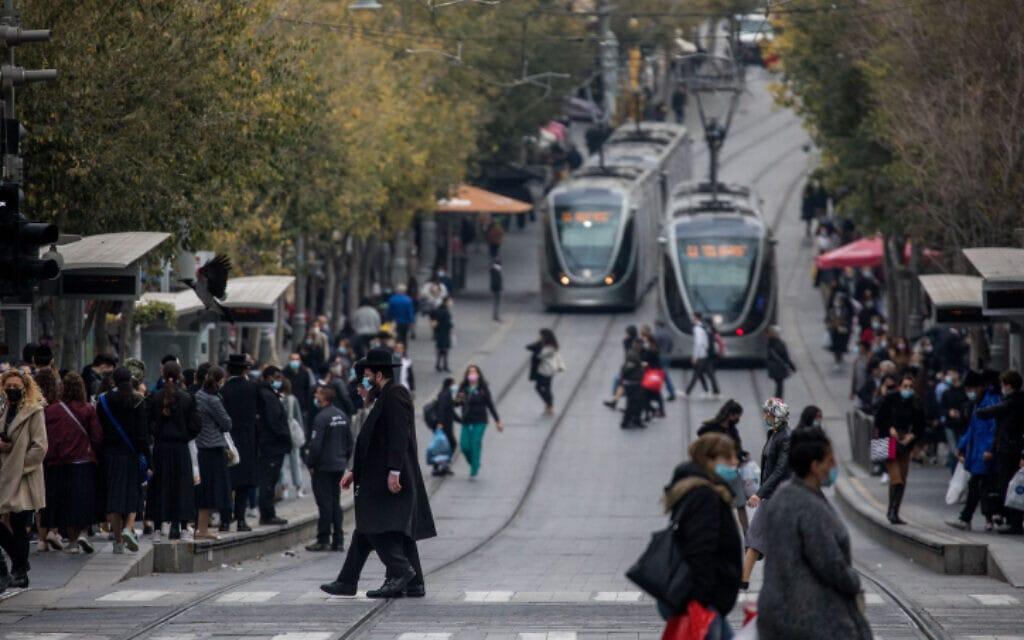 רחוב יפו בירושלים, 7 בדצמבר 2020 (צילום: יונתן זינדל, פלאש 90)