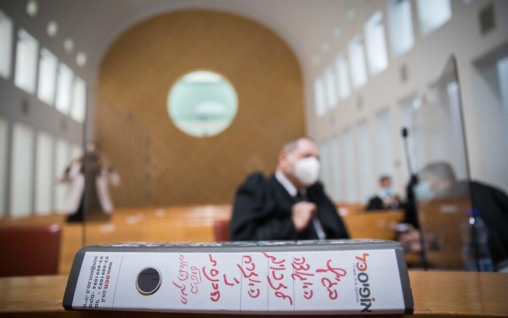 """דיון בעתירות לבג""""ץ נגד חוק הלאום, 22 בדצמבר 2020 (צילום: יונתן זינדל/פלאש90)"""