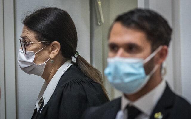 נשיאת בית המשפט העליון אסתר חיות בדיון בעתירות נגד חוק הלאום, 22 בדצמבר 2020 (צילום: יונתן זינדל/פלאש90)