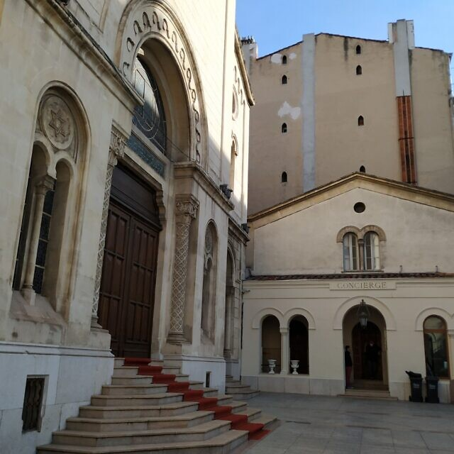בית הכנסת הגדול של מרסיי, 21 באוקטובר 2020 (צילום: יעקב שוורץ)