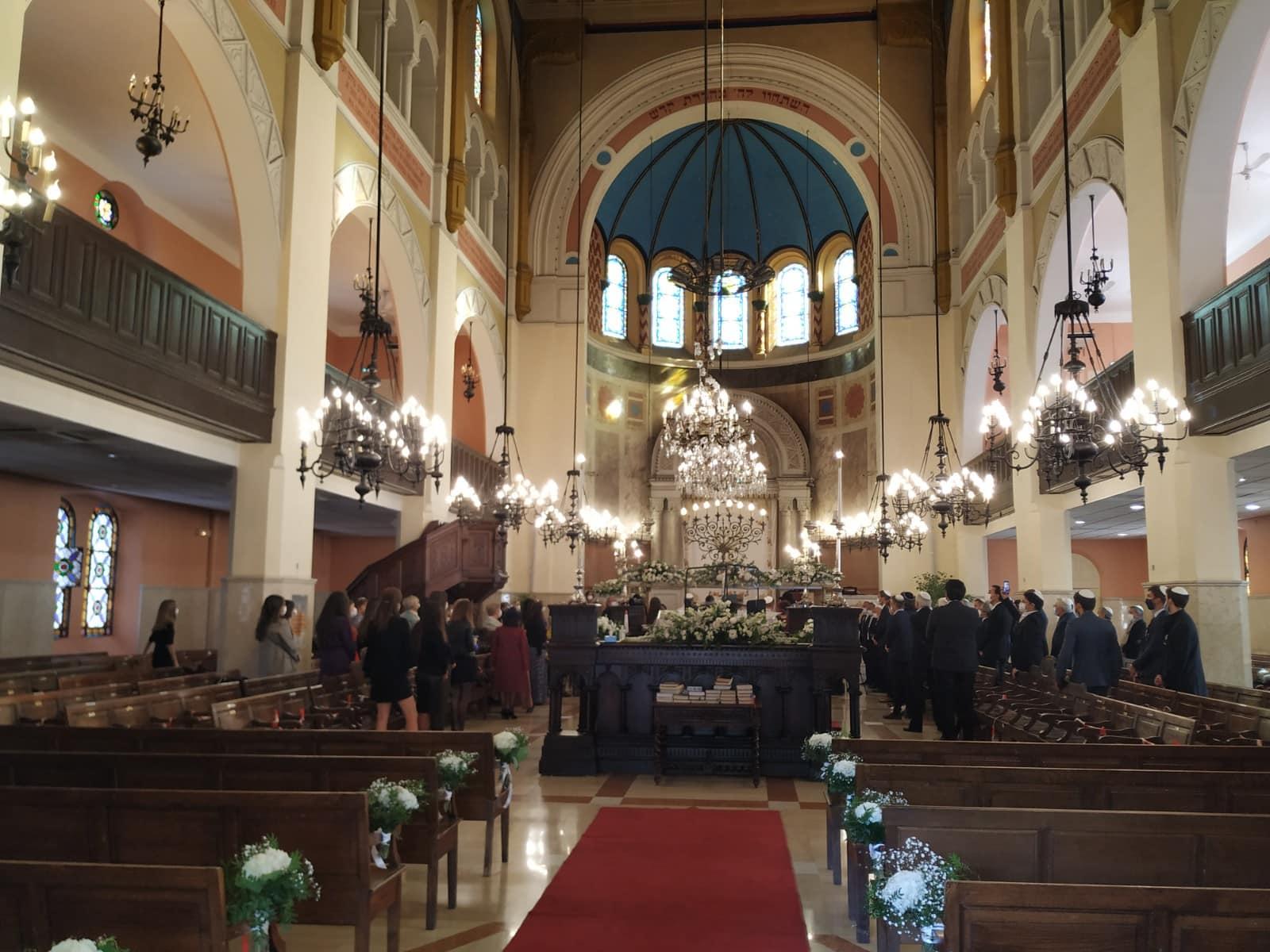 חתונה בבית הכנסת הגדול של מרסיי, 21 באוקטובר 2020 (צילום: יעקב שוורץ)