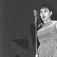 ריקה זראי, 1 באוגוסט 1958 (צילום: משה פרידן)