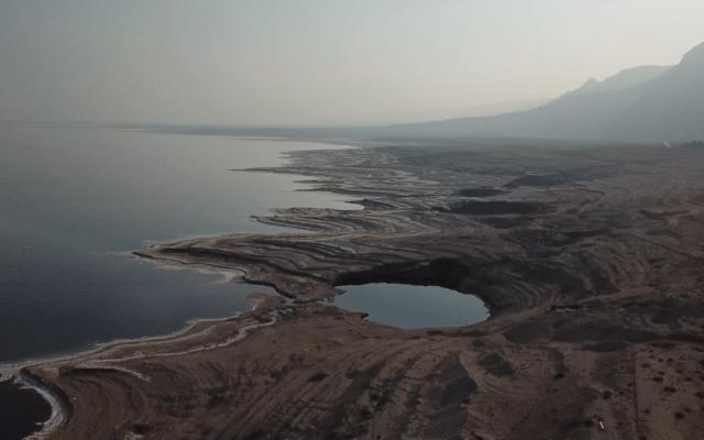 מבט על ים המלח, דרומית לחוף מינרל (צילום: אליעד איבס, גרינפיס)