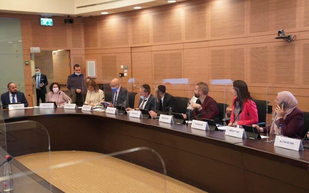 דיון של ועדת הכלכלה בנושא פיקדון על בקבוקי משקה, 1 בדצמבר 2020 (צילום: דני שם טוב, דוברות הכנסת)