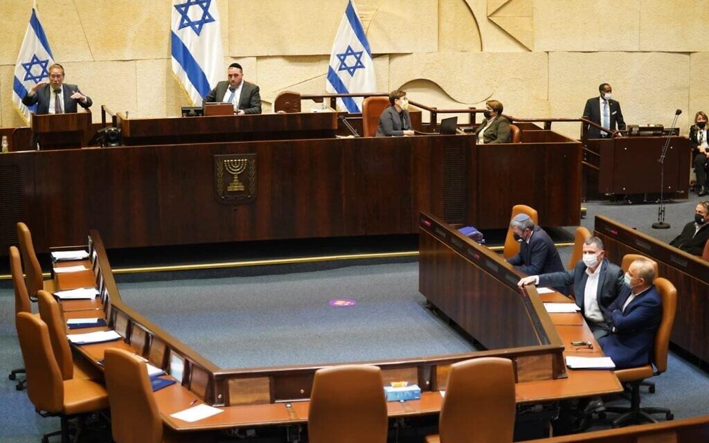 מליאת הכנסת, 21 בדצמבר 2020 (צילום: דני שם טוב/דוברות הכנסת)
